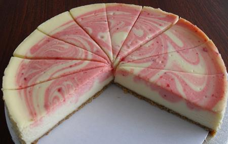 Strawberry Swirl Cheese Banquet Cake